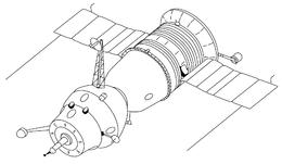 Soyuz 7K-OK - 3D sketch