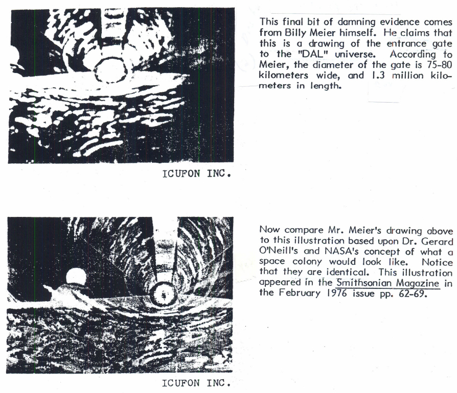 The Meier Incident: The most infamous hoax in Ufology, pg.34, 1981
