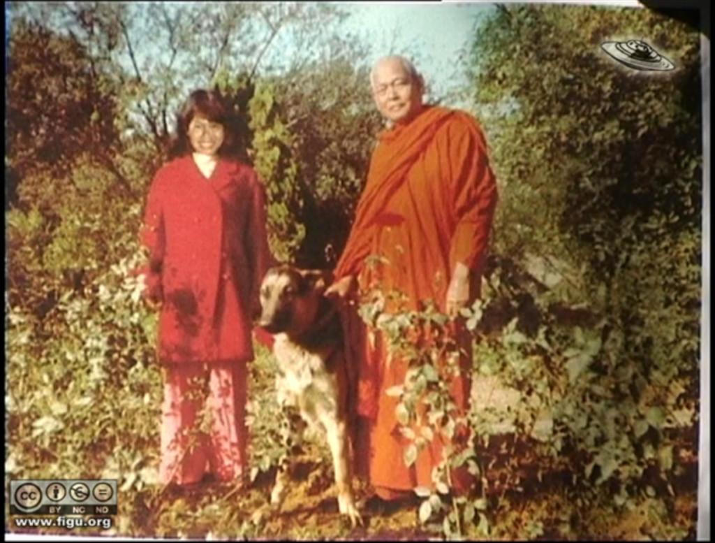 Phobol Cheng and Bante Dharmavara in Asoka Ashram