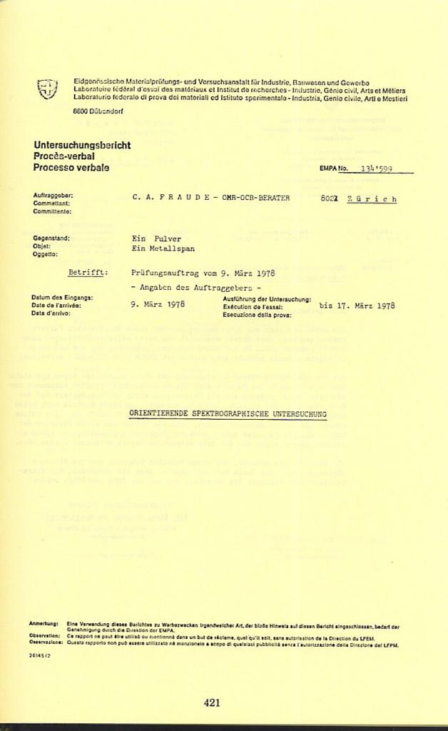421 Pre., App. VII, p 421